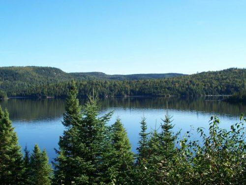 Essipit - Vue de la pourvoirie du Domaine du Lac Bernier