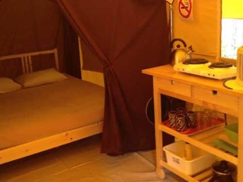 Essipit - Lit prêt-à-camper au camping Tadoussac