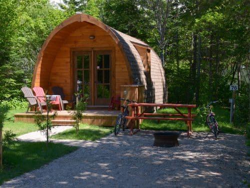 Essipit - Maisonnette au camping Tadoussac